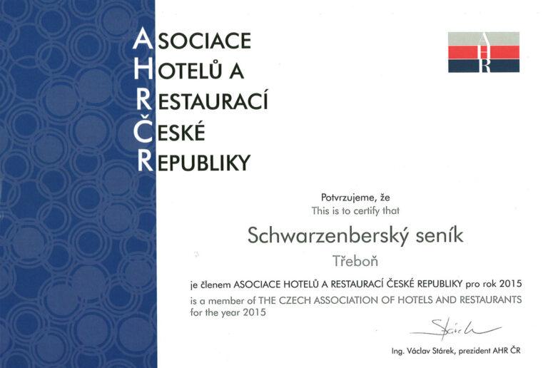 Seník v Asociaci hotelů a restaurací České republiky